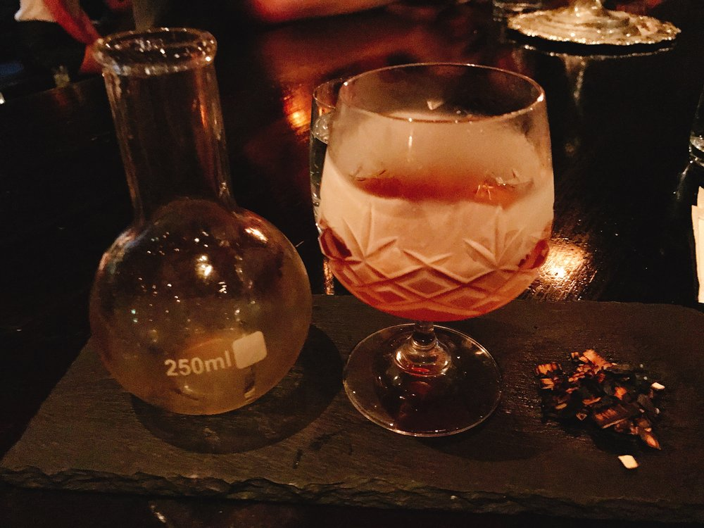 My favorite cocktail of the evening: Smokey Rob Roy