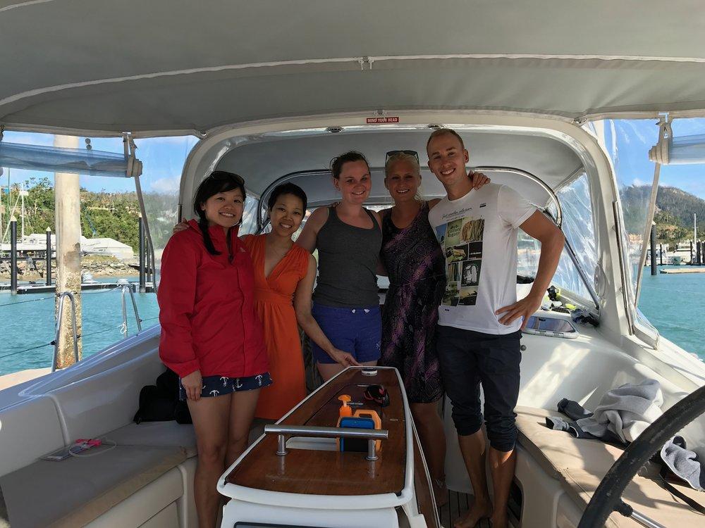 Me, Alison, Katarina, Julia #2, Tim