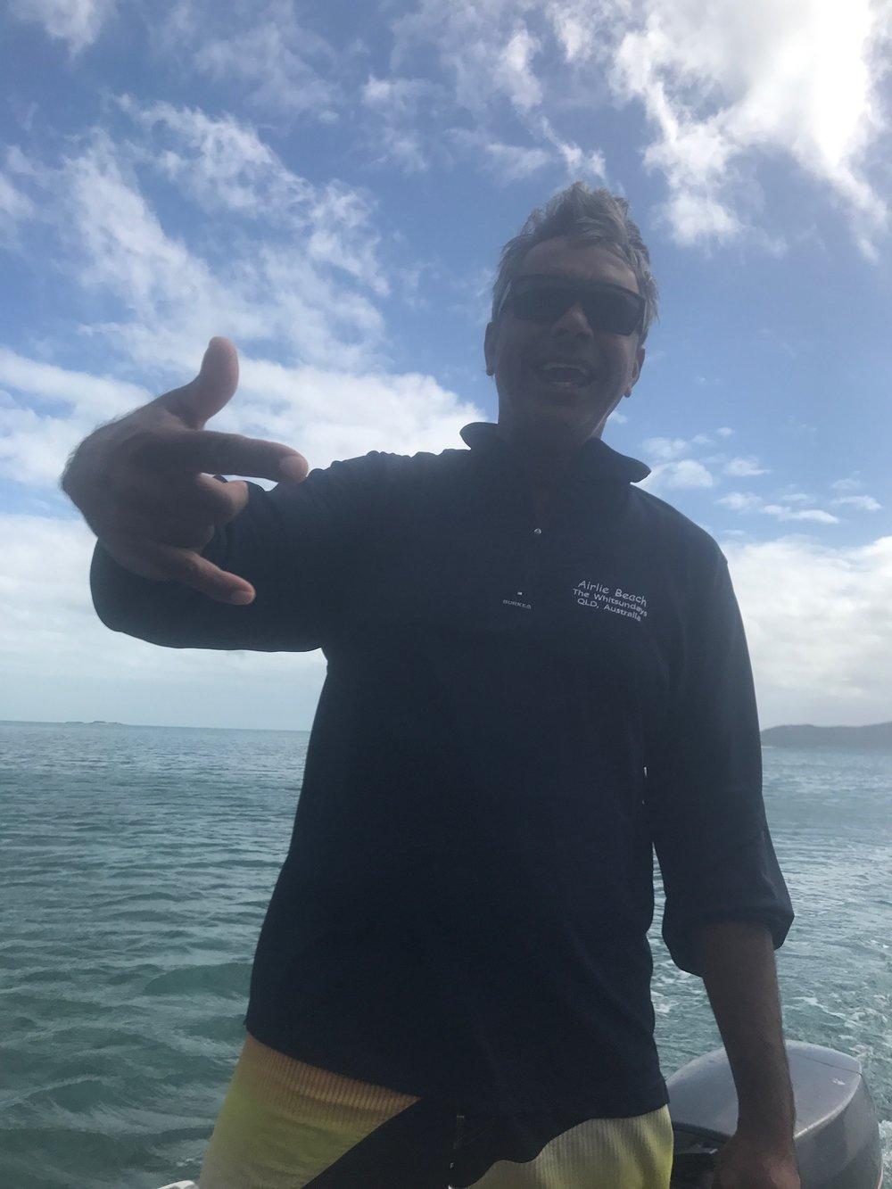 "Skipper Dave, boisterous as ever ""hey mannnn"""