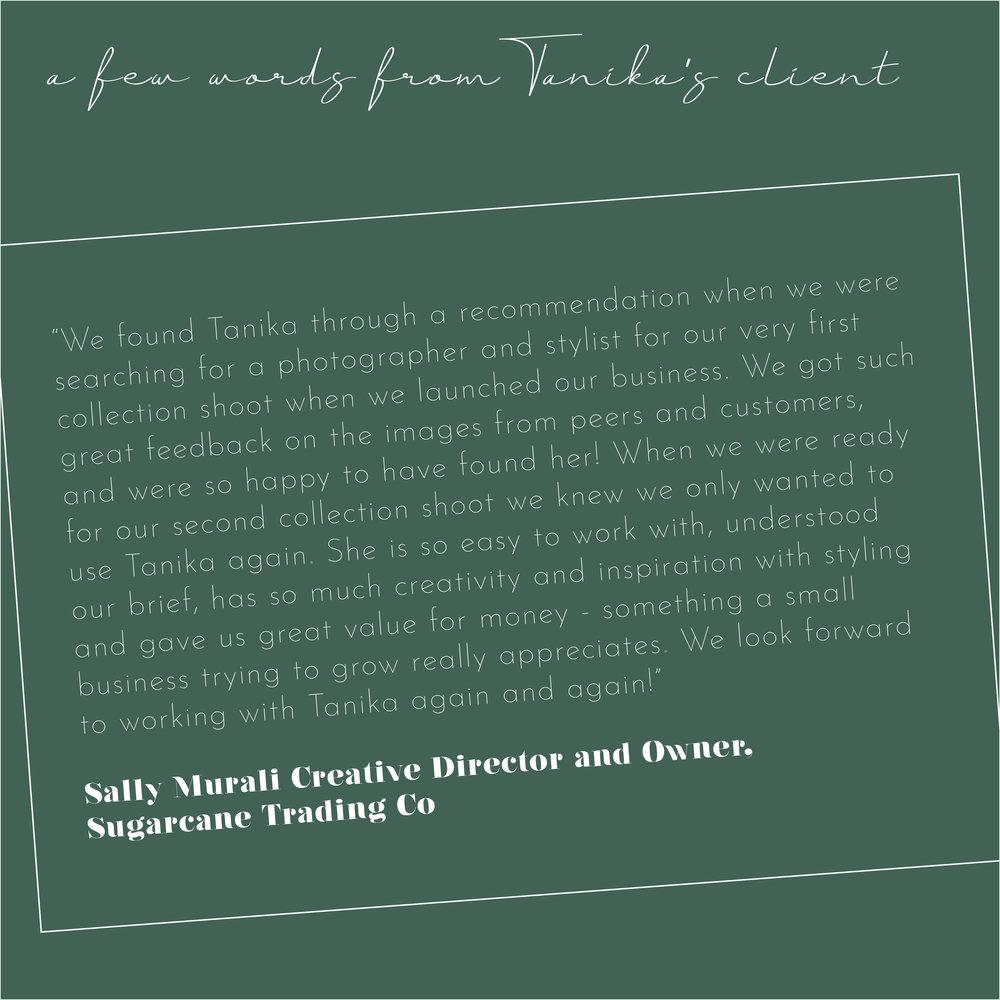 Tanika Blair - Styling & Photography - Testimonial - Sugar Cane Trading.jpg