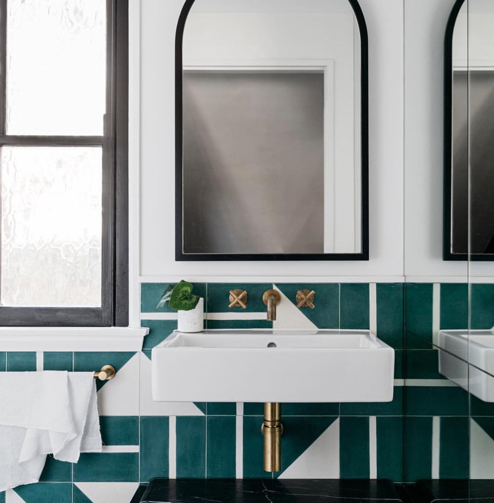 These teal tiles! If I was to use colour.