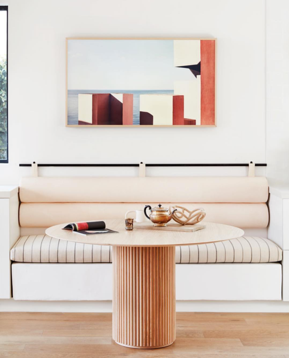 (interiors by Sarah Sherman Samuel, in the home of Garance Dore')