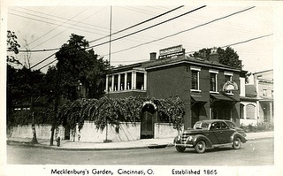 Throwback Thursday! As the oldest restaurant in Cincinnati, we have tons of old photos and history. Every Thursday we will be posting photo(s) with a little history about mecks and our role in Cincinnati's culture! This picture was taken in the 1940s. Swipe ➡️ to see a colorized version. We are thinking about bringing back the red exterior 👀 what do you think?? Let us know below ⤵️⤵️