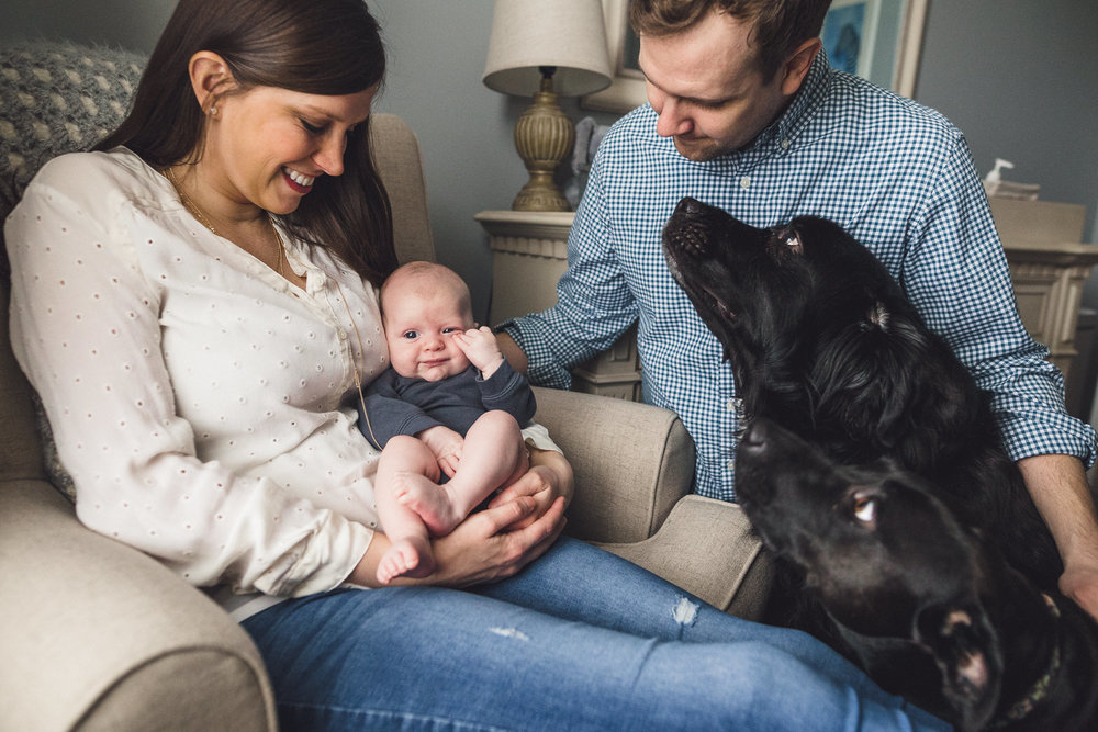 thomas wywrot photography nashville family photographer newborn photos baby pictures infant in home indoor natural light candid lifestyle franklin brentwood dogs dog puppy pets pet