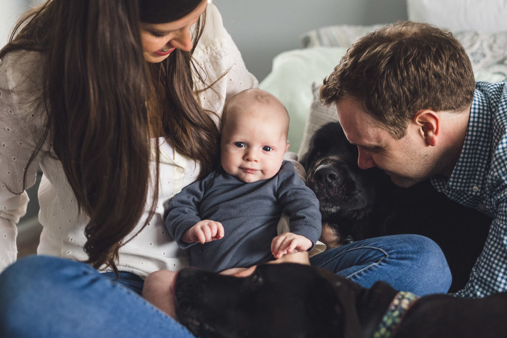 thomas wywrot photography nashville family photographer newborn photos baby pictures infant in home indoor natural light candid lifestyle franklin brentwood dog dogs puppy pet