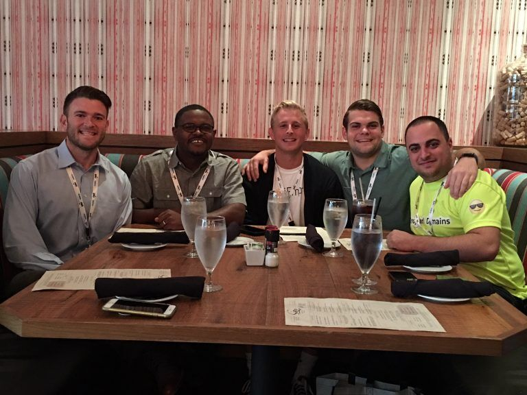 EmojiEmpires and EmojiURL founders enjoying lunch with Kickstartcommerce.com founder Alvin Brown.