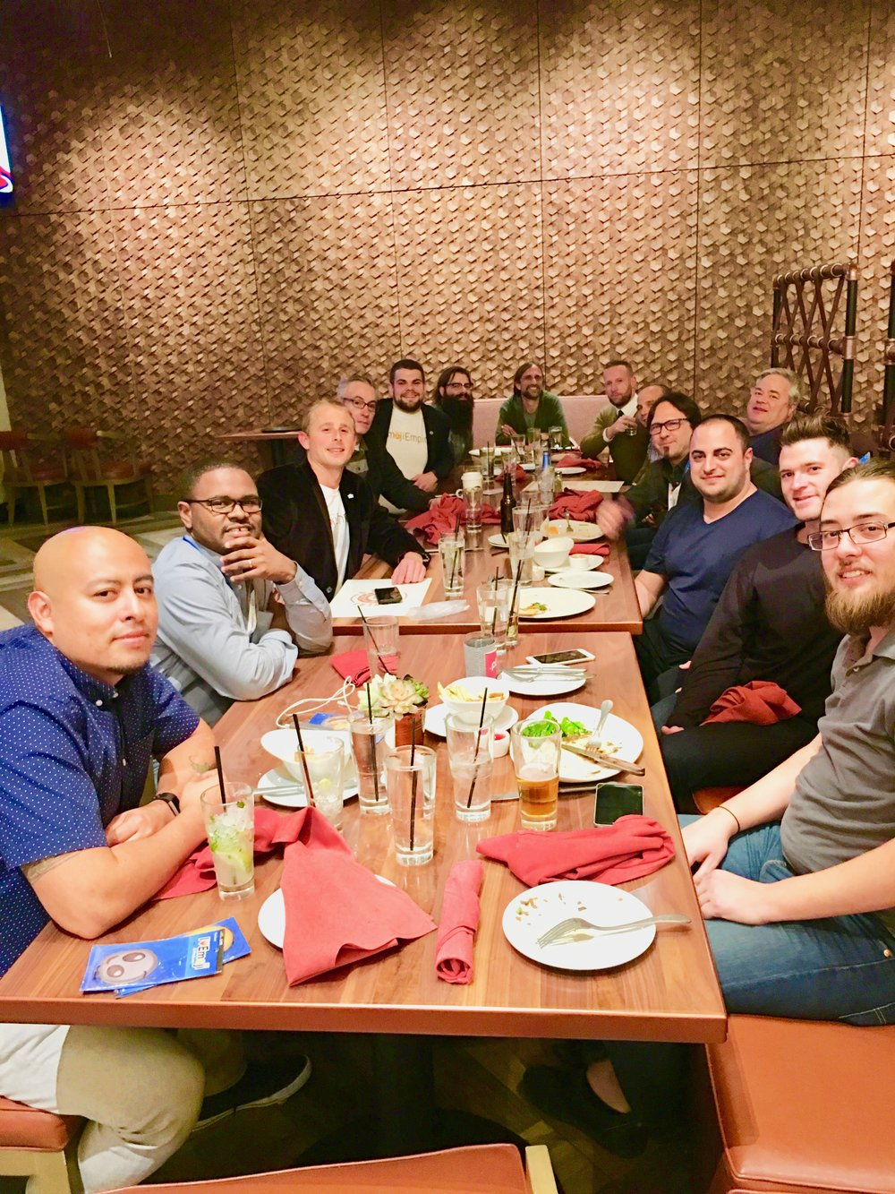 "The ""Emoji Domainers Executive Dinner"" with Emoji domain investors from around the world. Many great strategies, ideas, and plans were discussed to promote Emoji domains and their future."