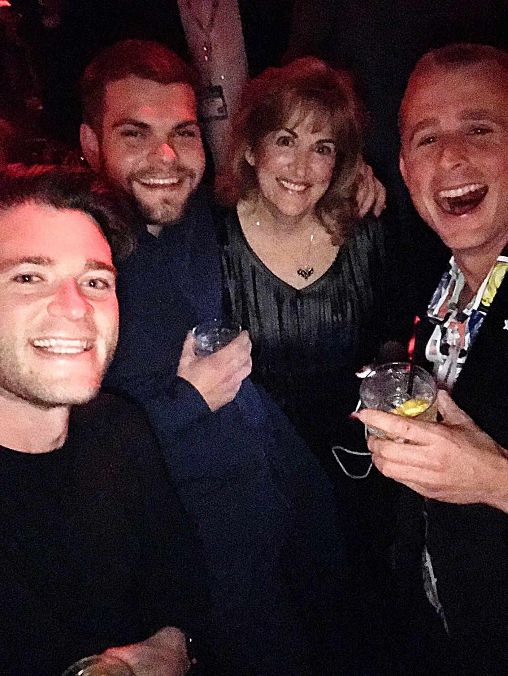 The Emoji Empires team selfie with our good friend  Barbara Neu  at the Hakkasan party hosted by  MMX .