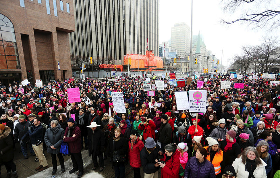 Ottawa, Ontario Women's March, credit: Andrew Meade