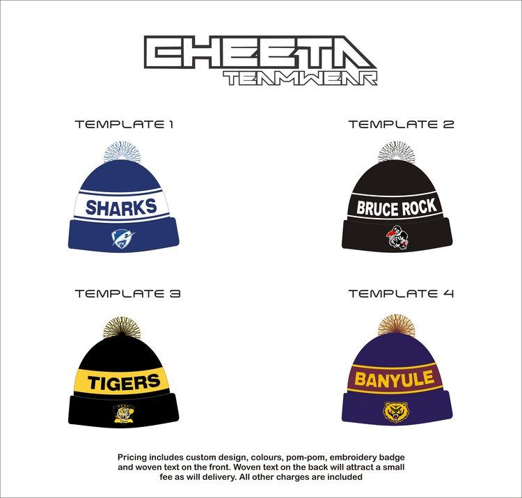 Beanies cheeta teamwear beanie templatesg maxwellsz