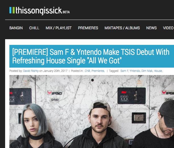 "Sam F x Yntendo Release ""All We Got"" [TSIS]"