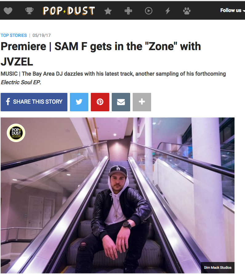 "Sam F releases ""Zone"" featuring JVZEL [POPDUST]"