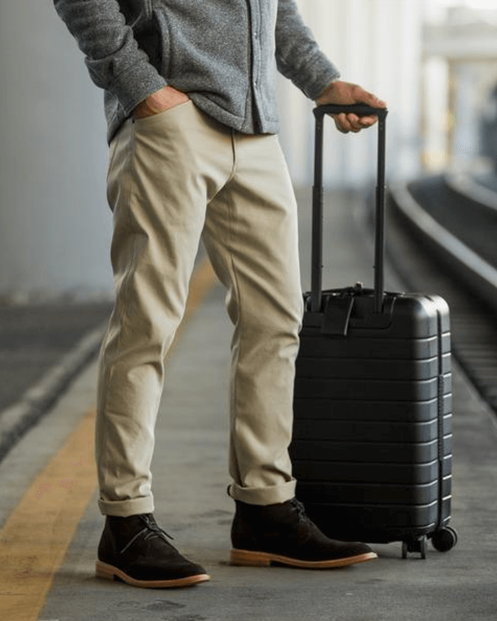 Myles Apparel pants - featuring an Away suitcase, no less.