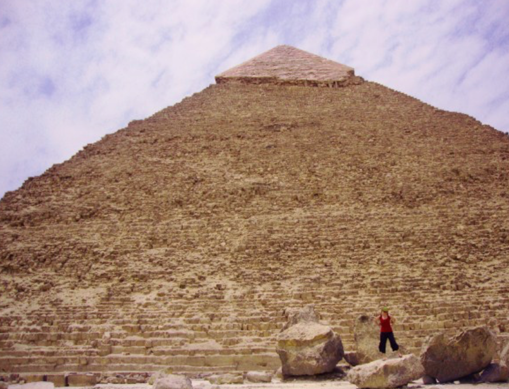 Standing next to the last of the great Seven Wonders of the Ancient World can make you feel really, really, unbelievably small...