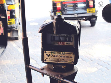 The meter is similar to taxi meters and fare is based on distance and time.
