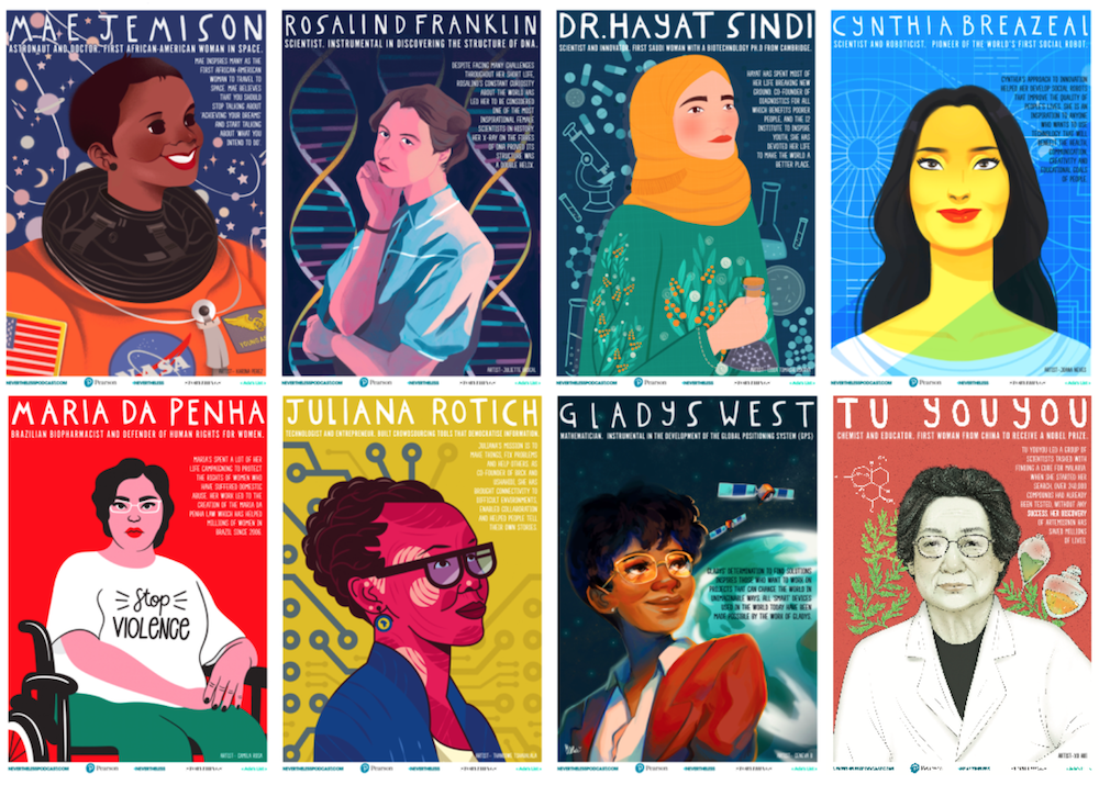 how much do we love    these posters    celebrating women in STEM?