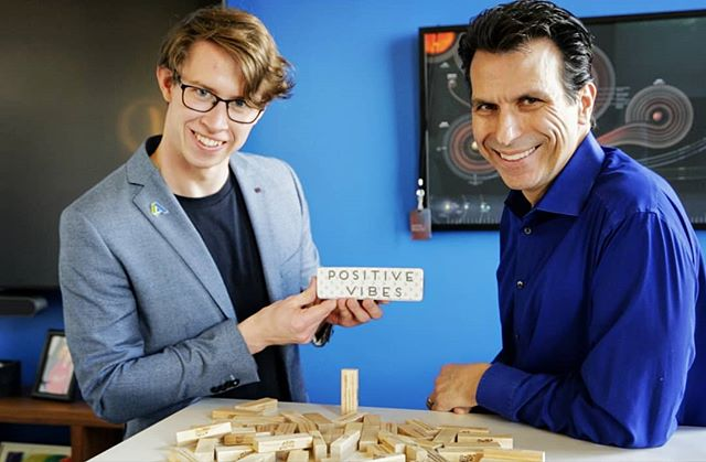 Soooooo, just casually, I played Jenga with Andrew Anagnost, the CEO of @autodesk Click the link in my bio to watch.  The staff of @autodeskedu asked me to make the interview a bit fun as Andrew would probably appreciate a break from all the very proper meetings he was having that day. So, I took them quite literally and turned up with a set of Jenga blocks with all the question laser cut into each block. The idea was that the interview would unfold as, we played a game of competitive Jenga! :) Andrew is probably one of the smartest and most friendly people I have met. In this interview he gave some of the best advice I have ever heard. If you are university student this is totally worth a watch. :)