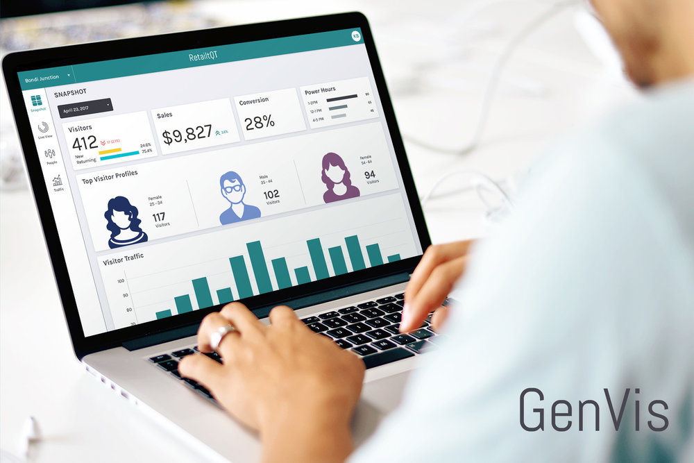 GenVis_ - GenVis is an Intelligent Video and People analytics platform that helps businesses know their customers better. The Jack's team have designed, built and managed the creation of both the web platform and back end systems using face recognition technology and machine learning.