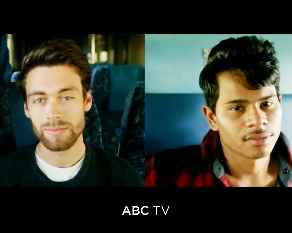 Two men looking at the camera - ABC TV