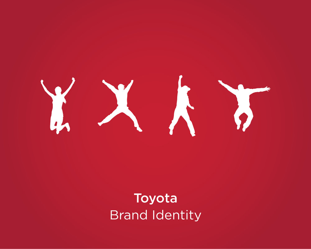 People jumping with joy - Toyota brand poster