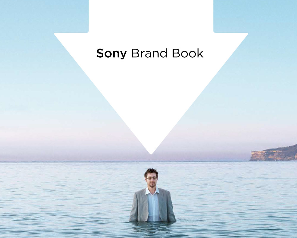 Man standing in the ocean - Sony brand book cover