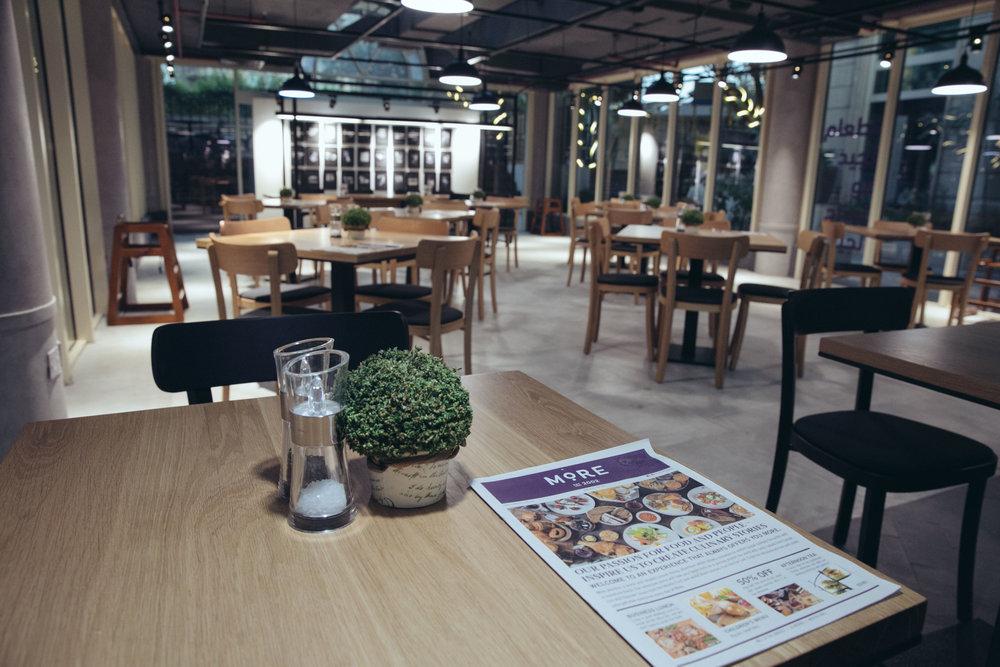 More Marooj menu on table