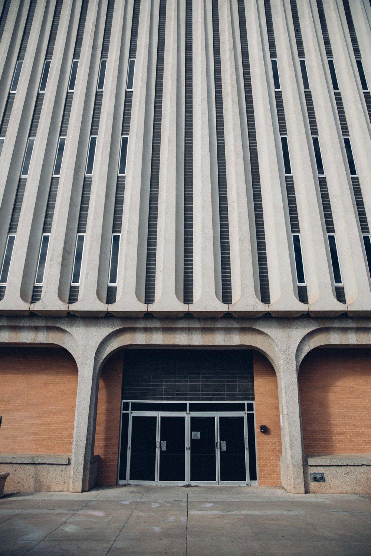 ASU architecture facade lines