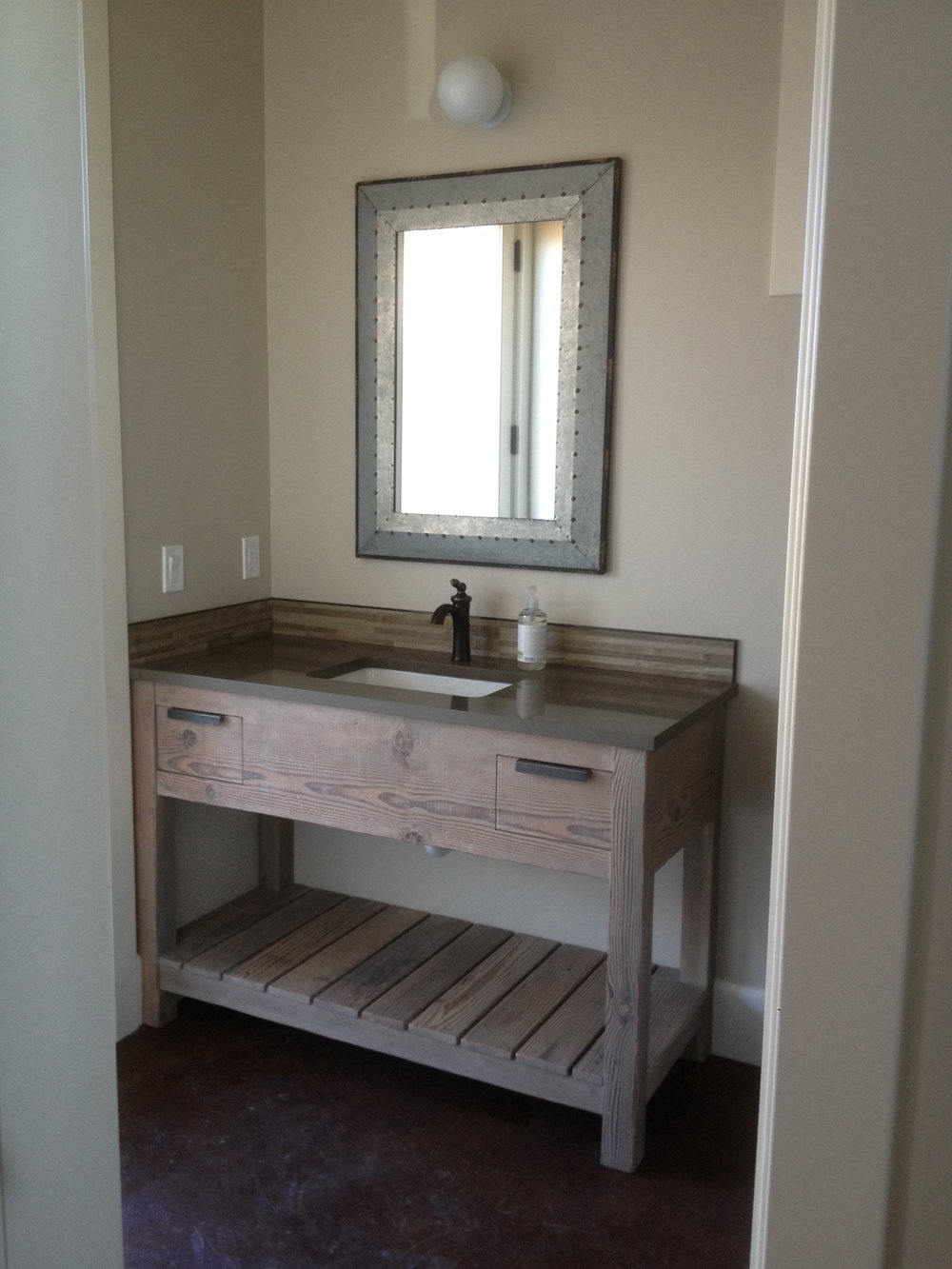 Farmhouse style bathroom vanity