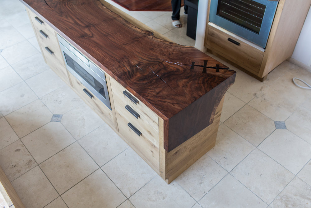 claro walnut island top