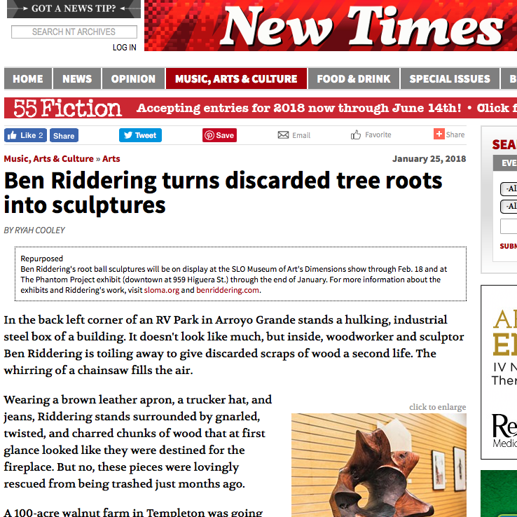 new-times-article-ben-riddering-sculpture-slo-museum