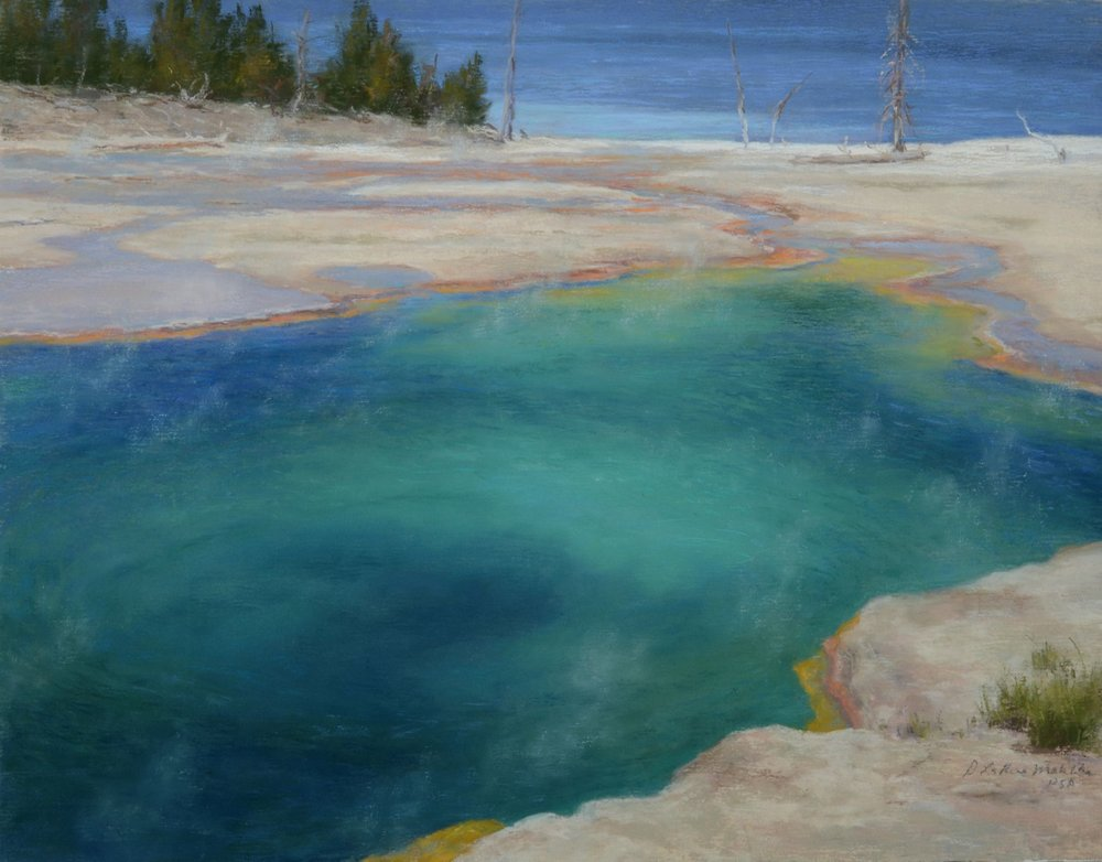 Across the Abyss - Abyss Pool, Yellowstone NP