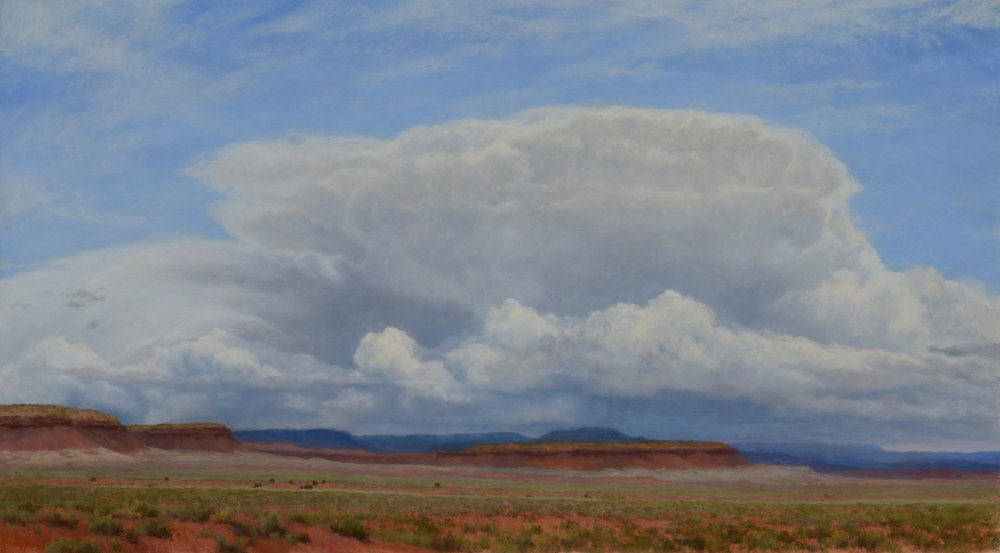 """Spring Storm -On the Wings of the Wind""  20"" x 36"" Pastel on paper"
