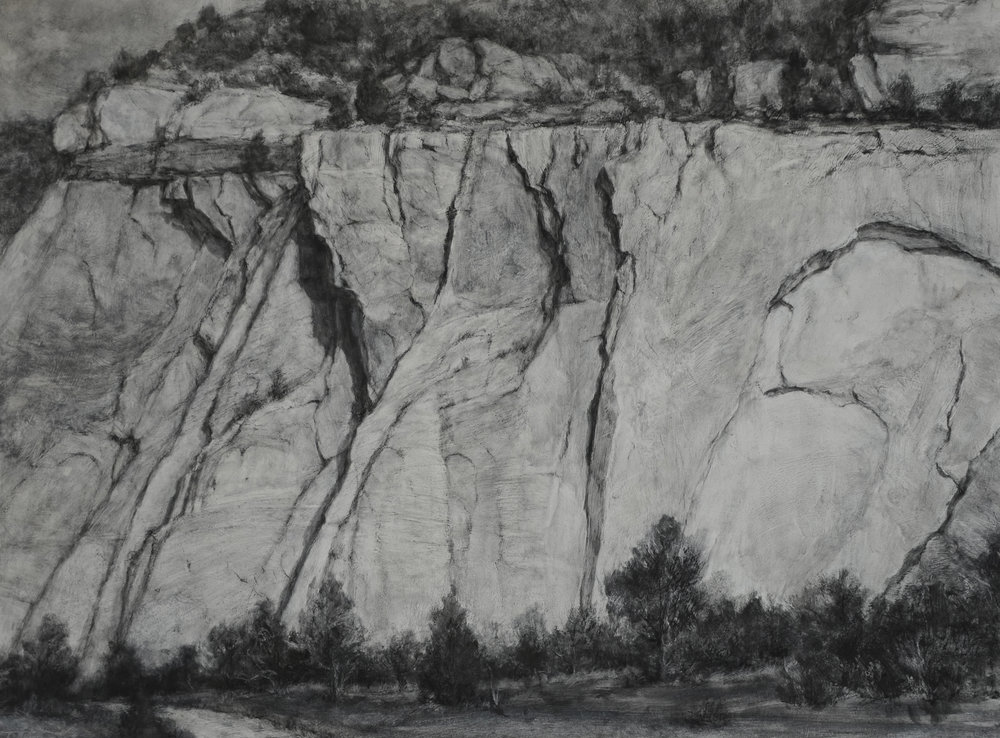 DLaRueMahlke_Rock Rhythms_17.75x24_Charcoal on Board.jpg