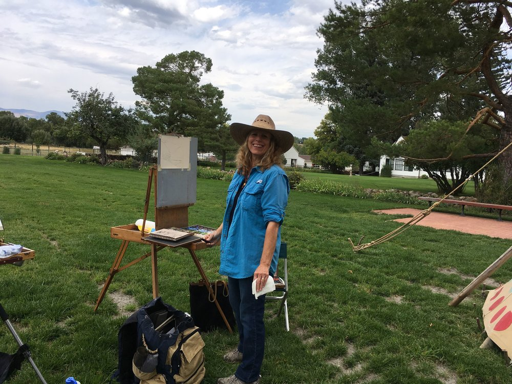 On the Brinton Museum grounds ready to paint.