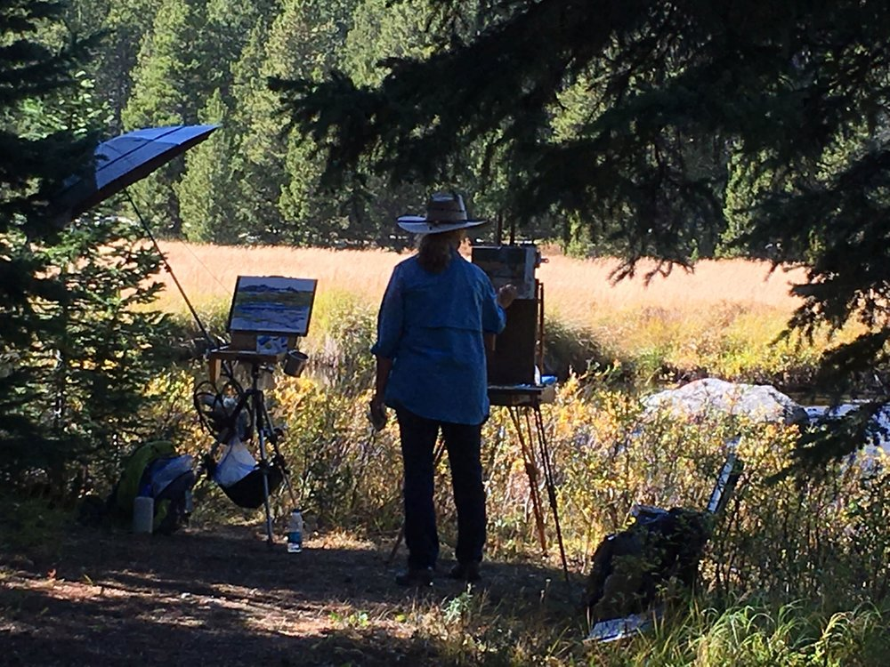Painting in the Big Horns along the West Fork Big Goose Creek.