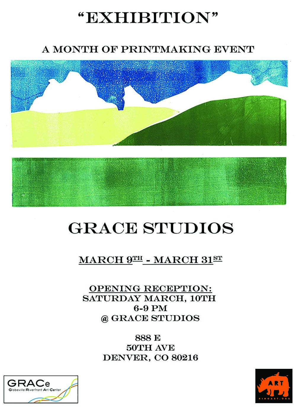 Exhibition - Opening reception: March 10, 20186:00 PM - 9:00 PMGlobeville Riverfront Art Center (GRACe)888 E. 50th Ave., Denver, CO 80216