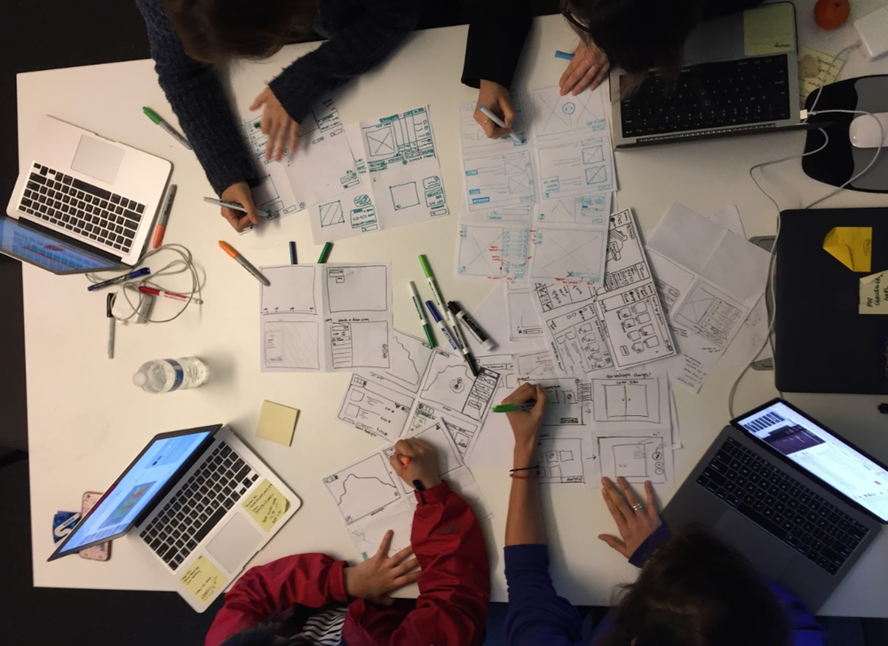 Design ideation exercise called  Crazy 8s