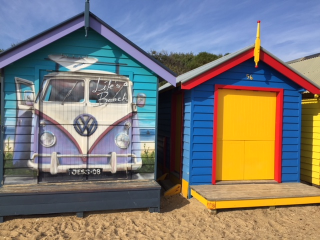 Melbourne's Beach Bathing Boxes