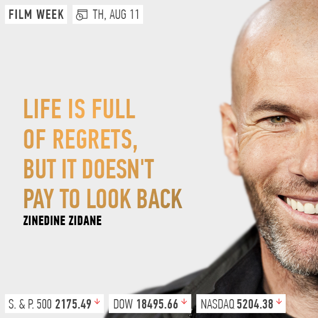 Zinedine Zidane Life Is Full Of Regrets But It Doesnt Pay To Look