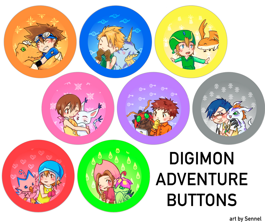 Digimon Adventure Buttons