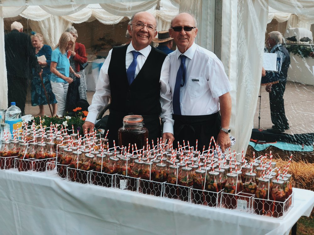 Andy & Charles serving the PIMMS !