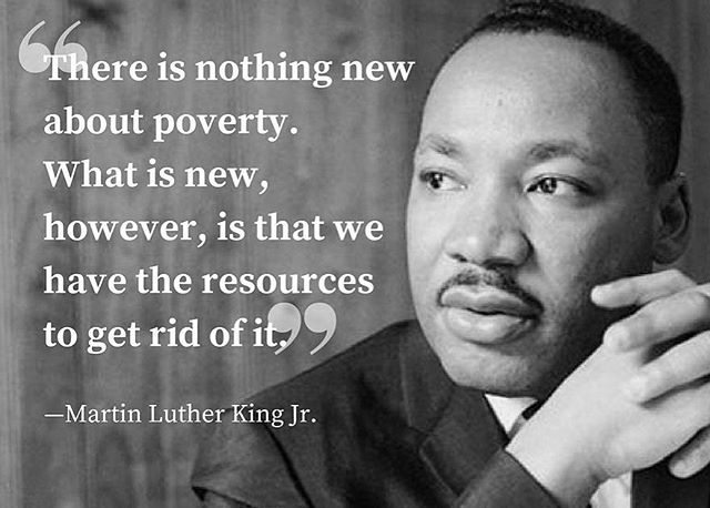 Quote: Martin Luther King. Photo: wfpusa #poverty #globalgoals #beaware