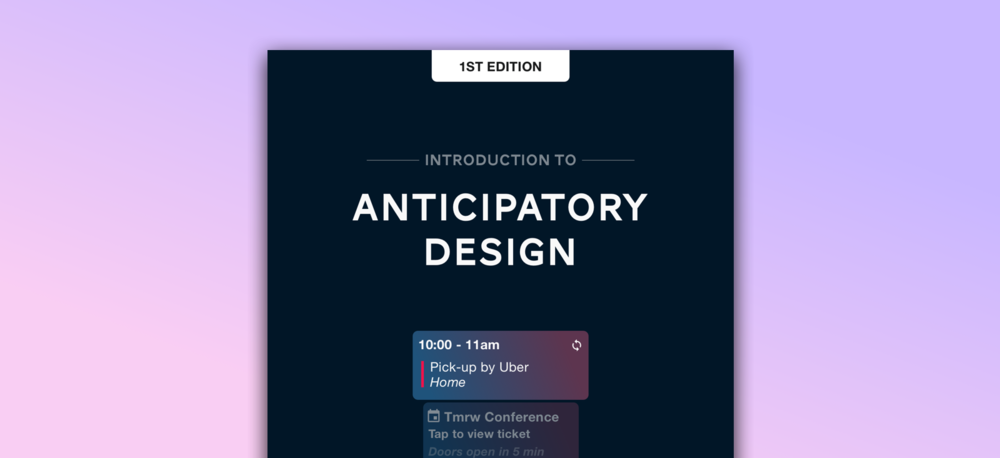 OUT NOW eBook Introduction to Anticipatory Design
