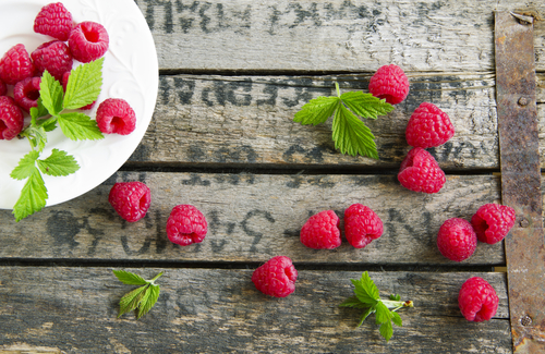 raspberry and mint dressing made with rapeseed oil