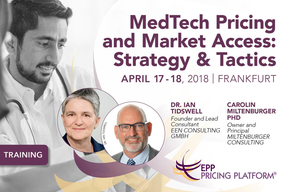 Medtech pricing and market access training