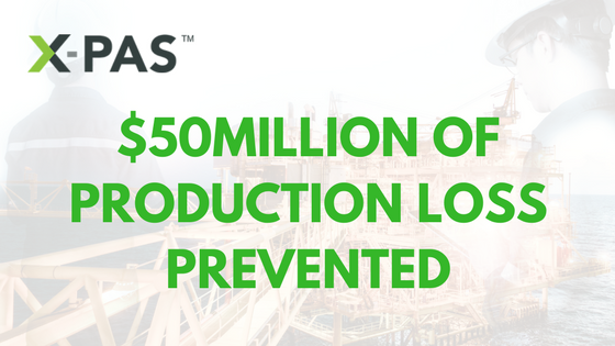 XPAS $50 Million Production Loss Prevented