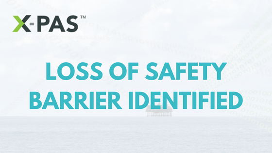 XPAS Identifies Loss of Safety Barrier