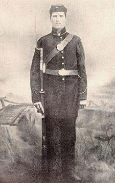 Private Clay Holtz of Co. H, 55th Ohio.