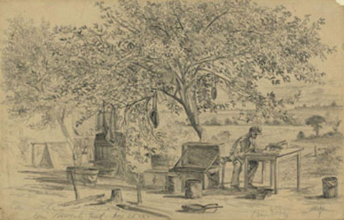 """Our kitchen near Beverly Ford"" by Edwin Forbes(7)"