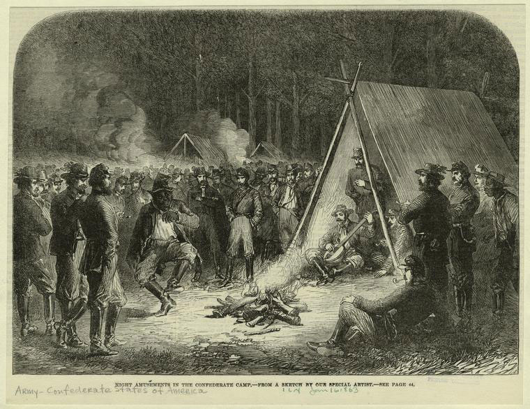 """Night Amusements in the Confederate Camp."" (26)"